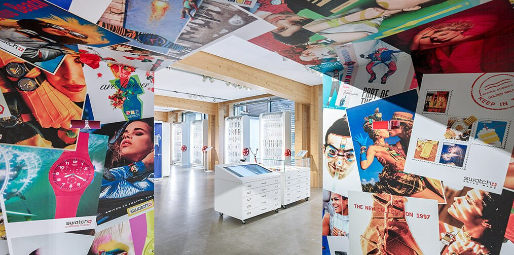 Swatch HQ planet Swatch focus on old fashion watches