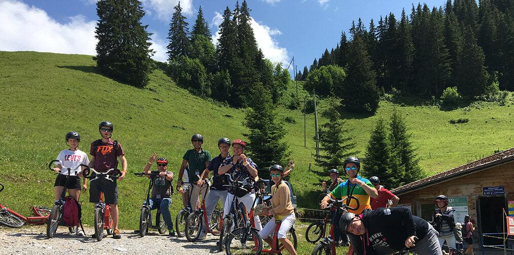 Biking cubbies in Gstaad