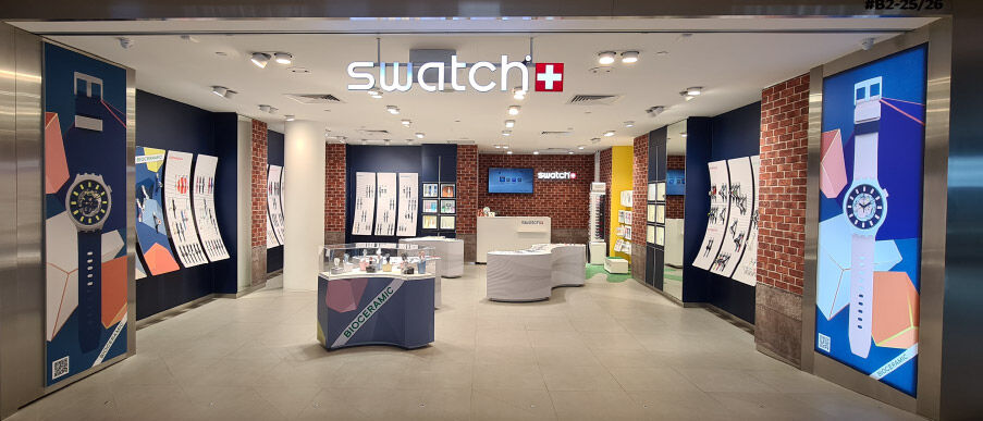 Swatch store for Bioceramic launch