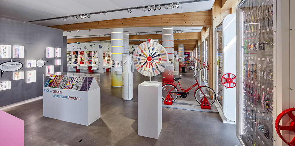 Swatch HQ planet Swath focus on Mix and Match wheels