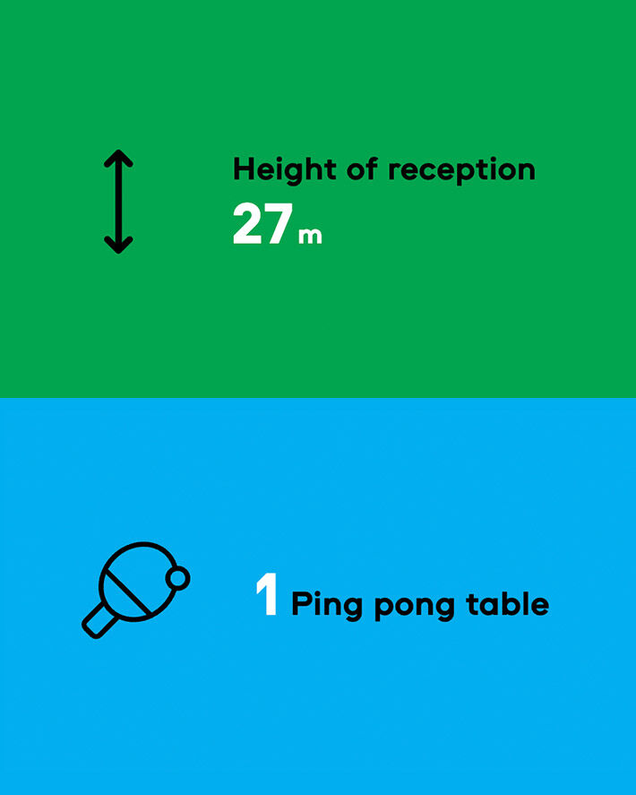 height of reception 27 meters
