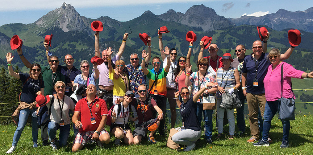 Clubbies in the Gstaad mountains